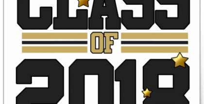 Class of 2018 black and gold